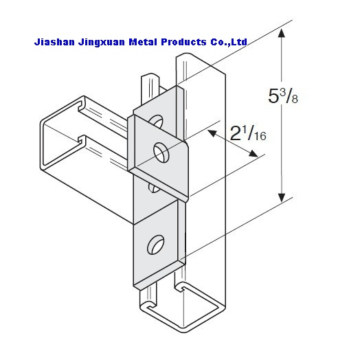 4 Hole Hole offset bent Tee Strut Fitting  sc 1 st  Jiashan Jingxuan Metal Products Co.Ltd strut cl&loop hanger & pipe clampstrut clamploop hangerstrut channel accessoriesmade in ...